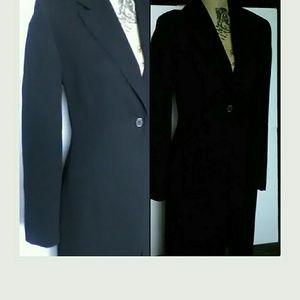 I.N.C. Black Trench Coat / Blazer , pocketed